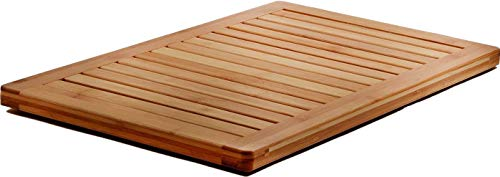 - Bamboo Bath Mat Shower Floor Mat Non Slip, Made of 100% Natural Bamboo, By Bambusi