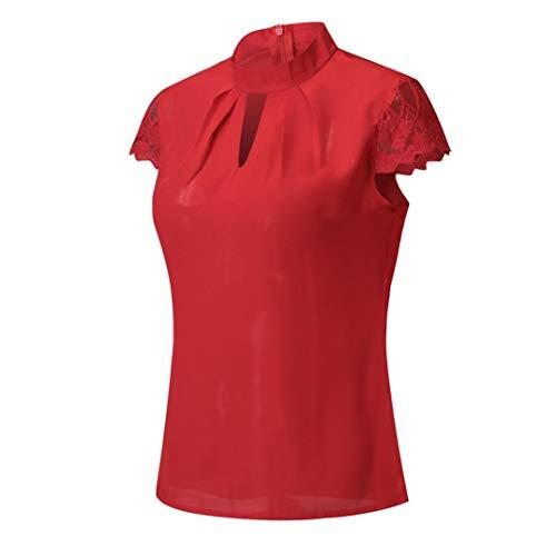 Places Portefeuille Women Red Col Chemisier sans Tunisien Femme Manche Kanpola qwHO1CtO