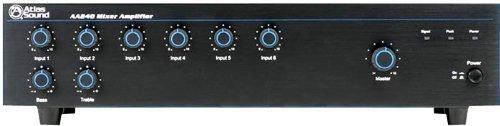 - Atlas Sound AA240 Mixer Amplifier 240 Watt 6 Channel Bridge IN OUT Circuit 5 Mic Line Input