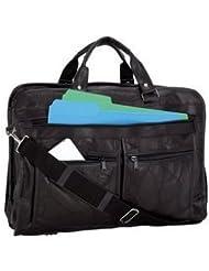 Maxam Brand Italian Mosaic Design Genuine Leather Briefcase Removable Shoulder Strap