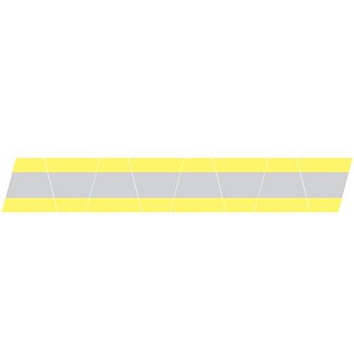 Firefighter Helmet Tets 8 Pack Tetrahedrons Fire Helmet Stickers - Reflective Yellow/Silver Stripe