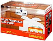 Member's Mark Bolsas Degradables para Basura 210 pzas, EcoResponsible, Reutilizables, (Presentación puede