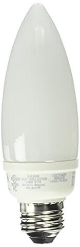 TCP 10714 CFL Torpedo - 60 Watt Equivalent (14W) Soft White (2700K) Medium Base Decorative Chandelier Light - Candelabra Compact