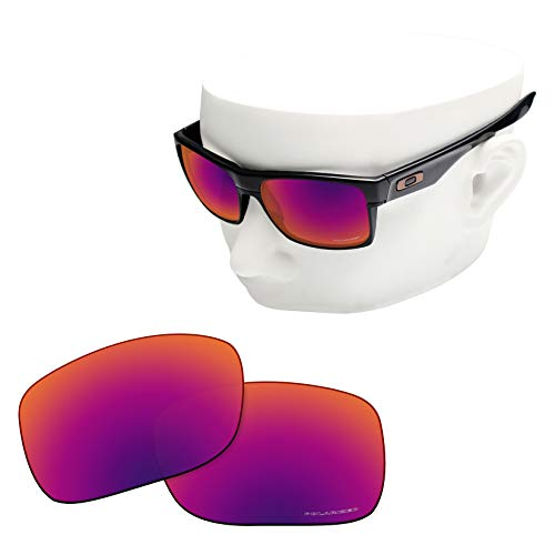 OOWLIT Replacement Lenses Compatible with Oakley TwoFace Sunglass Purple Red Combine8 ()