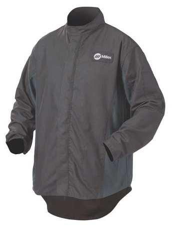 Welding Jacket, L, 30'', Black/Navy
