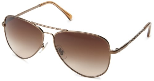 Ralph Lauren Brown Sunglasses (Ralph Lauren womens 0RA4107 104/1359 Aviator Sunglasses,Brown & Tortoise,59)