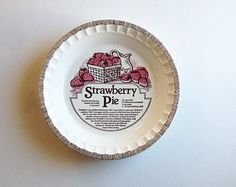 Jeannette Royal China Strawberry Pie Plate