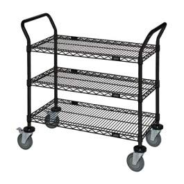 Quantum Storage Systems WRC-1848-2 2-Tier Wire Utility Cart, 2 Wire Shelves, 5