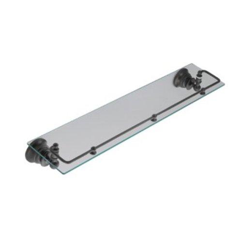 Moen YB9899WR Waterhill Glass Shelf with Pivoting Rail, Wrought Iron