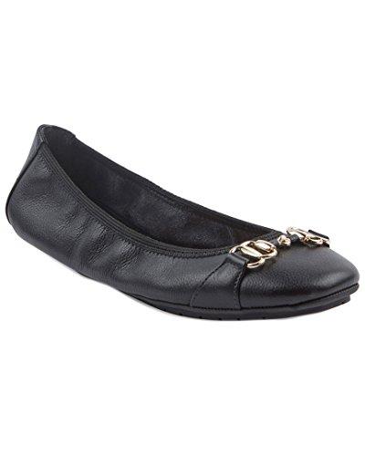 Me Too Olympia1 Vrouwen Lederen Platte Schoen Zwart
