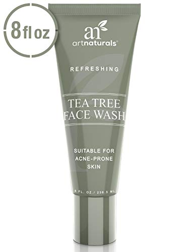 ArtNaturals Tea Tree Face Wash - (8 Fl Oz / 236ml) - Helps Heal and Prevent Breakouts, Acne and Skin Irritation - Green Tea, 100% Pure Tea Tree Essential Oil, and Aloe Vera ()