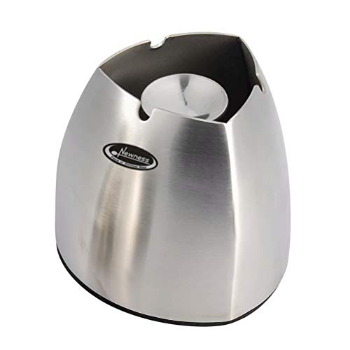 Ashtray, Newness Stainless Steel Tabletop Decoration Unbreakable Home Ashtray, Triangle Shape, Large Size