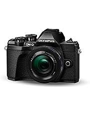 Olympus OM-D E-M10 Mark III Kit, Micro Four Thirds systeemcamera (16 megapixels, beeldstabilisator, elektronische zoeker, 4K-video) + M.Zuiko 14-42mm EZ zoomlens, zwart