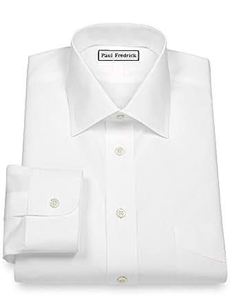 Paul fredrick men 39 s non iron 2 ply cotton windsor spread for 2 ply cotton dress shirt
