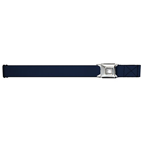 (Buckle-Down Navy Blue Starburst Seatbelt Belt)
