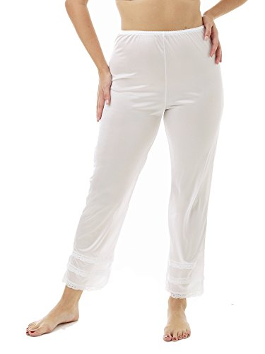 - Underworks Nylon Ankle Length White Pantliner Pant Slip with Snip a Length White X-Large