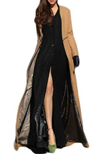 Modernas Elegantes Manga Mujer Khaki Talla Slim Chaqueta Extraíbles Único Outerwear Fit Ocasional Parkas Largos Moda Larga Invierno Gabardina Grande CqxtqzfH