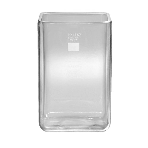 Corning Pyrex 6944-11L Borosilicate Glass Reusable Rectangular Chromatography Developing Tank, 11.4L Capacity