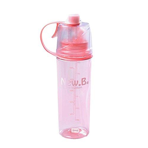 Qileyin Sports Bouteille d'eau Spray Gourde portable–sans BPA + LeakProof Mist refroidissement bouilloire pour l'extérieur randonnée Camping escalade Voyage 600ml Sb60170