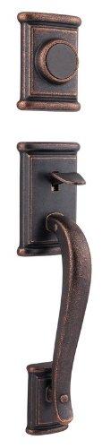 Bronze Ashfield Dummy Handleset (Kwikset 802ADHLIP-501 Ashfield Dummy Exterior Handleset Rustic Bronze Finish)