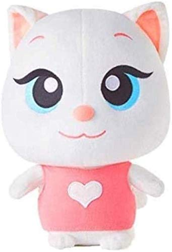 NC56 Plush Toy Stuffed Cat Cute Angela Cat Talking Tom and Friends Soft Animal Dolls Christmas Birthday Gift for Kids(Non-Voice) 26cm