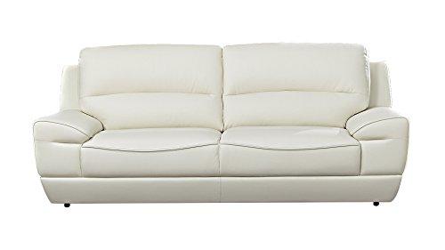 American Eagle Furniture EK018-W-SF Jackson Mid-Century Modern Italian Leather Living Room Sofa, 87