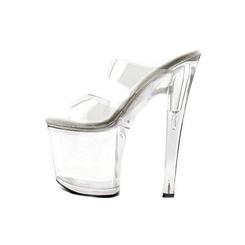 Ellie Chaussures E-821-coco 8 Sandales À Talons. Clair