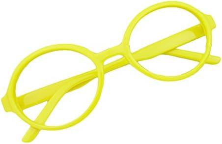 juqilu Rund Gläser für Kinder - Jungen und Mädchen Keine Objektive Gläser Kunststoff Brillenfassung Klassisches Brille mit Auto Form Brillenetui
