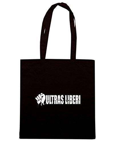 T-Shirtshock - Bolsa para la compra TUM0177 ultras liberi Negro