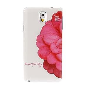 GONGXI Beautiful Flower Pattern Plastic Hard Case for Samsung Galaxy Note 3/N9000