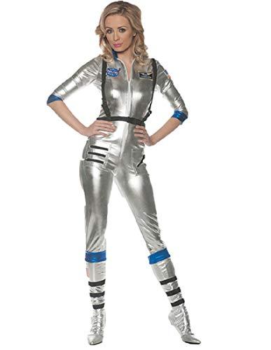 Underwraps Women's Sexy Astronaut Costume-Orbit, Silver, Small ()