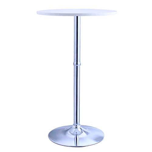 """Duhome Bar Table MDF Wood Contemporary and Elegant Design Pub Table Restaurant Bistro 23.5"""" Top 41"""" Height (White)"""