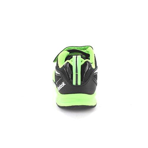 Reebok Rbk Almotio Rs 2v Brights, Zapatillas de Deporte para Niños Negro (Black / Solar Green / Wht)