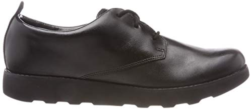 London Clarks Derbys Garçon Noir Leather black Crown 55q6w7