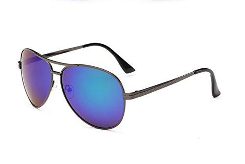 Color de Color Conductor de Gafas del Gafas Sol de Espejos Sol 5 de Hombres Gafas polarizadas Gafas 6 del Sol de WYJL Clásicas Colorido Conducción los gZUFnxU