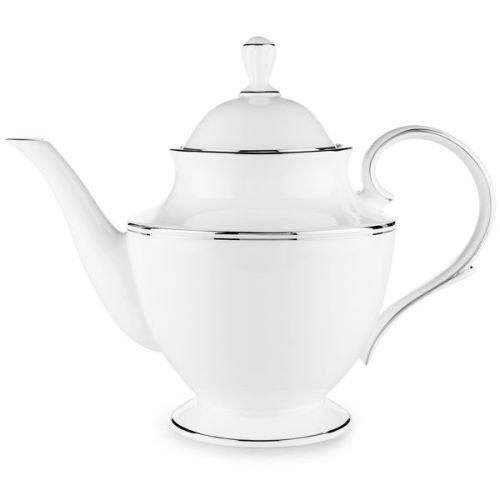 Lenox Federal Platinum Bone China Teapot with Lid