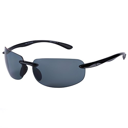 Lovin Maui Wrap Polarized Sunglasses - TR90 Frames (Black)