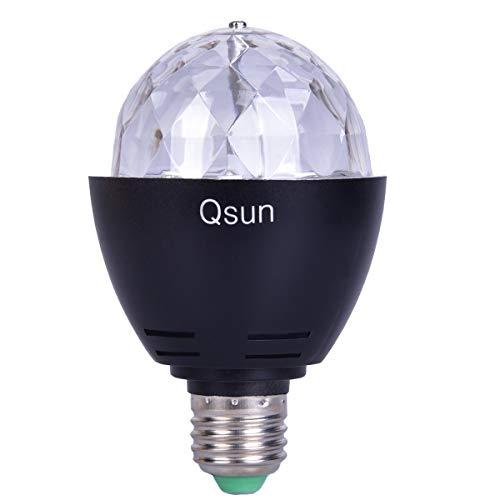 Qsun LED Rotating UV Blacklight Bulb  review