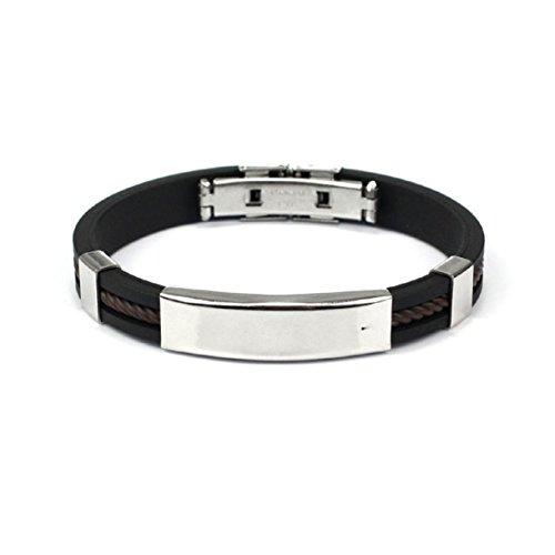 Lookatool® Fashion Mens Jewelry Bracelet Stainless Steel Cuff bangle Hand Chain