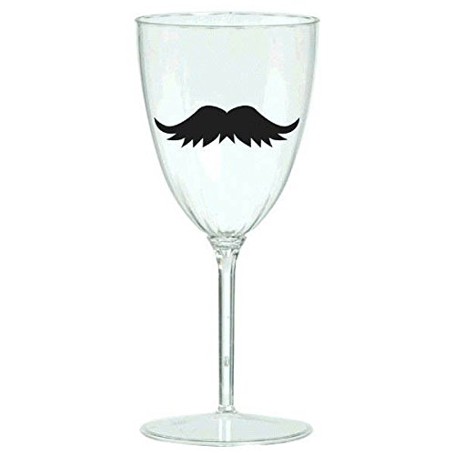 amscan Fun Filled Mustache Drink Markers Perfect for Parties Picnics or Everyday Use (16 Pack), 5 x 3-1/4