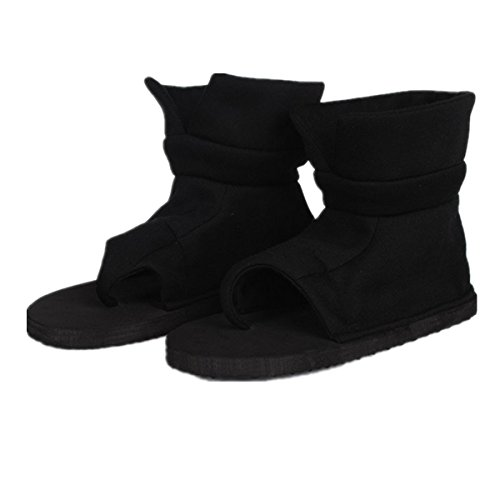 Naruto Cosplay Costumes Amazon (Naruto Cosplay Accessories - Kankuro Black Shoes Boots US 6.5-11.5)