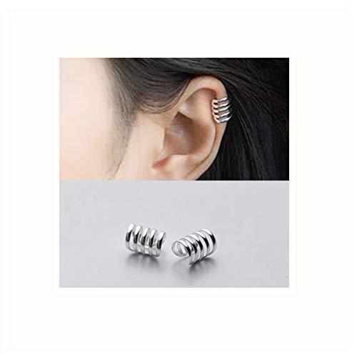 SLUYNZ 925 Sterling Silver Multi Circles Cuff Earrings for Women Teen Girls Clip Ons Earrings Cartilage Earrings