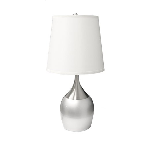 ORE International 8310SN Touch-on Table Lamp, Silver
