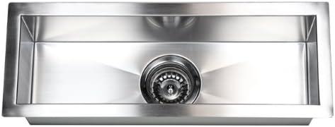 23 x 8.5 Single Narrow Bowl Undermount Kitchen Sink