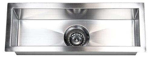 X  Single Narrow Bowl Undermount Kitchen Sink  Amazoncom - Narrow kitchen sink