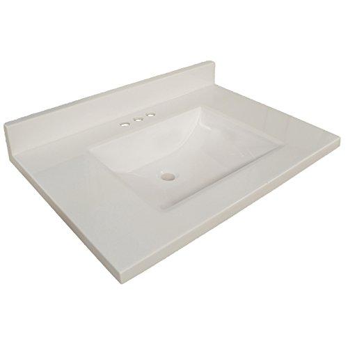 (Design House 563494 Contempo Vanity Top 61x22, Solid White)
