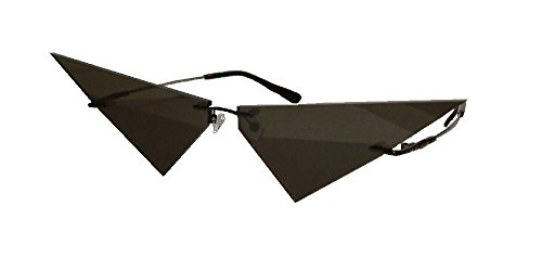 (Mini Two Piece Black Lens Pointy V Costume Cosplay Glasses)