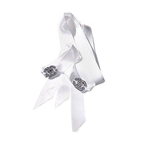 Stunning Crystal CC Shoe/Trainer Charms with a FREE Pair of Our White Satin Ribbon Laces ()