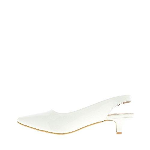 5cm Grandi Scarpe Di Bianchi Tagliente Dimensioni Aperta Tacchi Chaussmoi Dell'unghia BRxvFFq