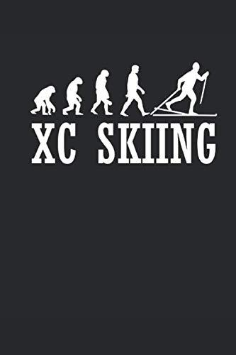 XC SKIING: Notizbuch Langlaufen Notebook Cross Country Skiing Journal 6x9 kariert squared (Karierte Brille)